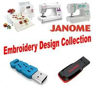 Janome JEF USB Flash Drive with 150,000 JEF Machine Embroidery Designs JEF