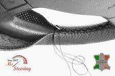 FOR IKCO ARISUN -BLACK PERF LEATHER STEERING WHEEL COVER BLACK STITCH