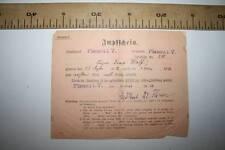 % ANTIGUO DOCUMENTO ALEMANIA  CERTIFICADO DE VACUNACIÓN, PLAUEN 1913 VER FOTO