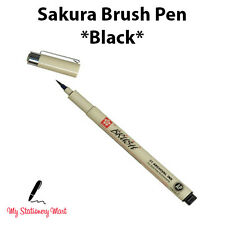 SAKURA PIGMA MICRON BRUSH TIP PEN - PIGMENT ARCHIVAL INK WATERPROOF BRUSH PEN