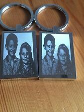 Personalised Photo & text Engraved Rectangle Keyring Mothers Day Birthday Gift