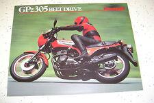 1984 Kawasaki GPZ305cc Belt Drive Sales Brochure,Genuine NOS, 4 Pages.