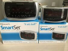 Emerson Research Smartset 2 Digital Alarm Clocks Radio Large Face Red Numbers