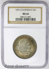 1892 Columbian Exposition NGC MS 66 Rainbow Toned Gorgeous Uncirculated 50c Coin