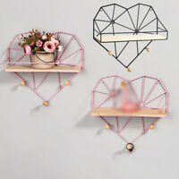 1pc Storage Holder Rack Shelf Wall Hanging Home Office Decor Organizer Durable