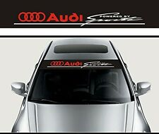 Front Windshield Banner Decal Vinyl Car Stickers for Audi SPORT auto accessories