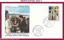 W465 VATICANO FDC ROMA GIOVANNI PAOLO II WOJITYLA BOLIVIA TRINIDAD 1988