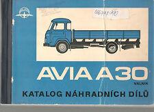 Avia A-30 Czech 1982 CSSR /Spare parts catalogue Katalog nahradnich dilu Avie CZ