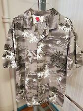 Vintage Mens ALI'I FASHIONS HAWAII Hawaiian Aloha Shirt Map of Islands Size XL