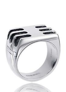 DIESEL Herren Edelstahl Ring Größe 63 (20,0 mm Ø) DX0178040512