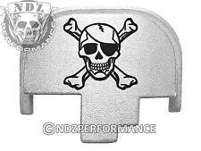 For Smith Wesson S&W M&P 9 40 45 Rear Slide Back Plate Sil Pirate Skull 3