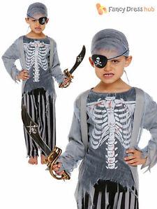 Boys Zombie Pirate Costume  Kids Ghost Zombie Halloween Fancy Dress Childrens