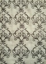 Yorkshire Home Valencia Damask Embroidered Sheer Panel ~ Stone Dark Gray ~ 54×95