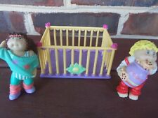 Vintage 1984 Cabbage Patch Kids Figurines Two Plus Playpen - 2 1/4 inches