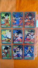 Carte DBZ Dragon Ball Z GT card Carddass lot*51 de 9 cartes bandai power level