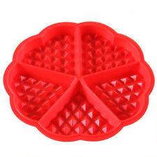 Molde de Gofres con forma Corazón silicona Galleta Especial Cocción en el horno