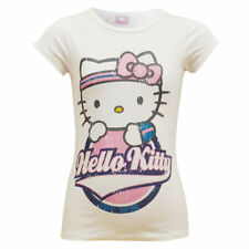 Vêtements T-shirts blancs Hello Kitty pour fille de 2 à 16 ans