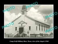 OLD LARGE HISTORIC PHOTO OF CAMP SWIFT US ARMY BASE, TEXAS, THE CHAPEL c1940