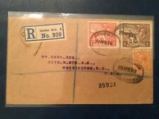 Stamps, Great Britain, registration letter with stamps Sc#185,186,190