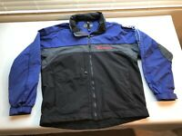Budweiser Bud Light Jacket Swingster Black & Blue Men Size L Hooded Vintage 80s