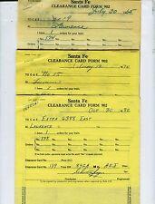 AT&SF (SANTA FE) RAILWAY TRAIN ORDERS  (17)  LAWRENCE, KANSAS  1965-1982.