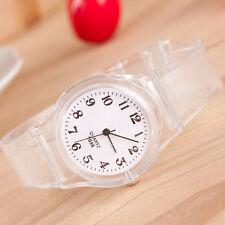 HOT Womens Fashion Transparent Crystal Jelly Silicone Cartoon Quartz Wrist Watch