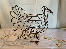 Rustic Metal Thanksgiving Turkey Decoration