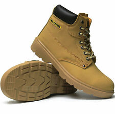 MENS MAXSTEEL LEATHER SAFETY WORK BOOTS STEEL TOE CAP SHOES TRAINER HIKER SIZE