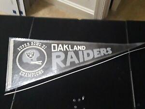 Oakland Raiders Super Bowl XI champions Vintage Pennant Laminated