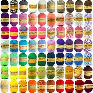 100g Malli Knitting Yarn 8ply Super Soft Acrylic Crochet Craft Wool Balls 8 Ply