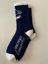 Vancouver Canucks Adult Socks- 1 Pair- Large -Brand New Free Shipping! (D9)