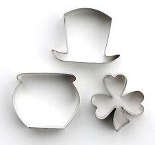 KIT di S. Patrizio Cutter Set Per Sugarcraft & Cupcake Trifoglio Irlandese Cappello