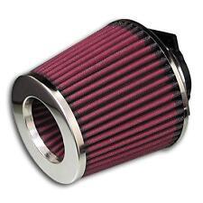 JOM Sportluftfilter Universal Sport Luft Filter inkl Adapter rot chrom