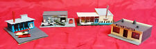 N Scale - 4 Buildings pre-built from Factory, No Boxes - LOT # 47