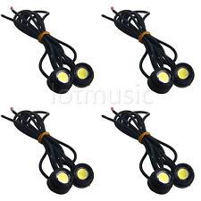 4*High Power White 3W LED Eagle Eye Under Car body Lamp Fog Light Motorcycle