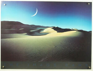 "DONALD CARROLL Moon Desert vtg 1980s fine art photograph landscape poster 32x24"""