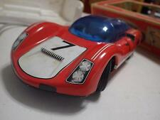 Joustra (France) Red/White Porsche 906 Carrera Tinplate/Electric 1:15