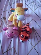 Bundle 3 x Fisher Price Click Clack Amazing Animals Giraffe, pig and tiger