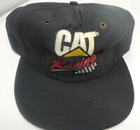 VTG Snapback Caterpillar Cat Racing Logo Baseball Cap Hat Black Tonkin Nascar