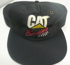 VTG Snapback Caterpillar Cat Racing Logo Baseball Cap Hat Black Tonkin Nascar