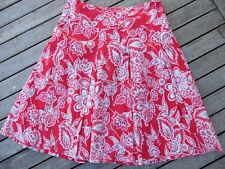 CROSSROADS SKIRT SIZE 12 RED FLORAL PLEATS SWEET