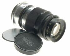 ERNST LEITZ WETZLAR BLACK PAINT ELMAR f=9cm 1:4 M39 SCREW MOUNT LENS 4/90mm CAPS