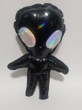Black Holographic Alien Plush Chibi Kawaii Cute