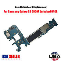 64GB Unlocked Main Motherboard for Samsung Galaxy S8 G950F SM-G950F SUS