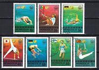 JO été Mongolie (61) série complète de 7 timbres oblitérés