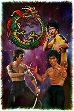 """bruce lee collage Framed Canvas Print  A1 30/"""" x 20/"""""""