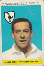 A&BC FOOTBALL CARD 1958 ~ GEORGE ROBB TOTTENHAM HOTSPUR ~ NUMBER 42 WITH PLANET