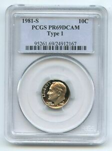 1981 S 10C Roosevelt Dime Proof PCGS PR69DCAM