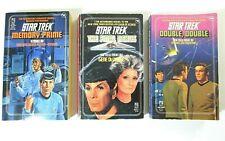 Lot (3) STAR TREK Novels #42 Memory Prime #43 The Final Nexus #45 DOUBLE, DOUBLE