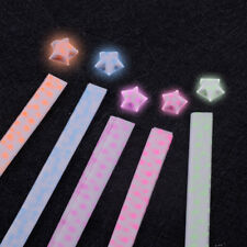 100PCS Luminous Origami Lucky Star Paper Crafts Folding Ribbons Christmas Gifts